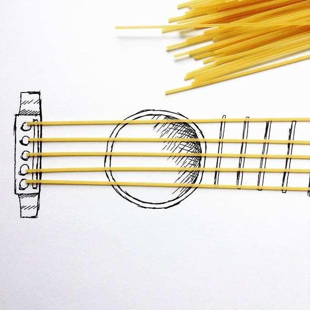 Guitarre-objets-du-quotidien-illustration17