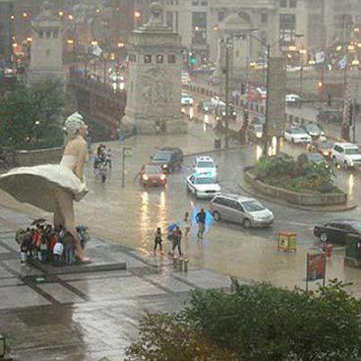 Chicago-jour-pluie-jupeMarilyn-Monroe