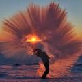 the chaud -eau-gele-froid-rapide-
