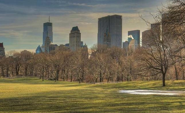 Marcher dans Central Park à New York