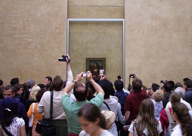 Mona Lisa au Musée du Louvre à Paris-realit