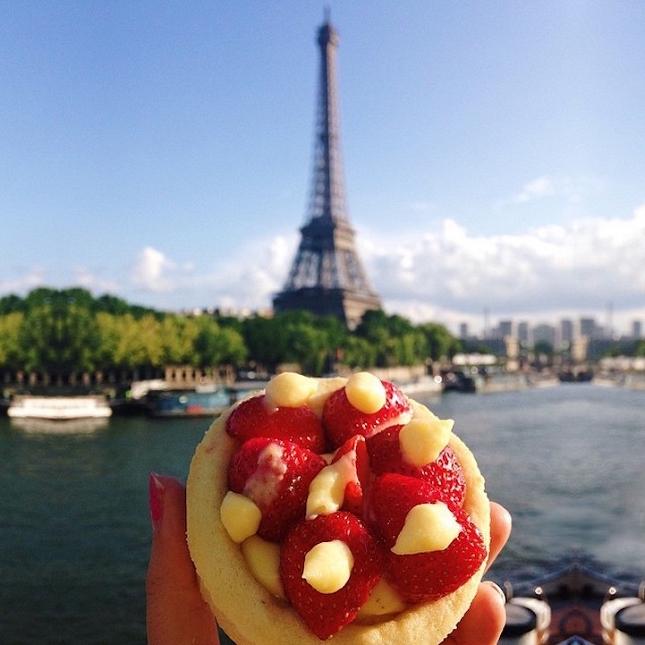 Tarte aux fraises à Paris