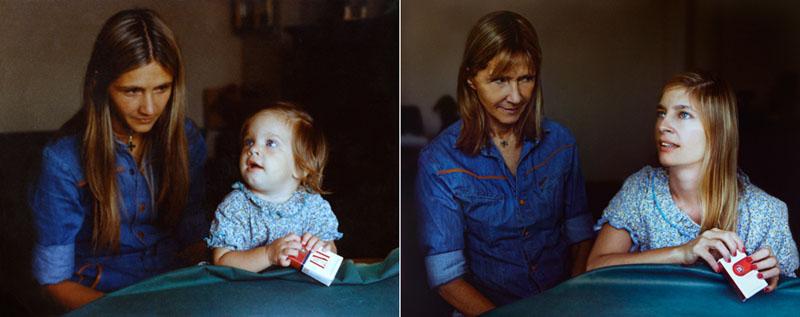 Marita et Coty en 1977 et 2010