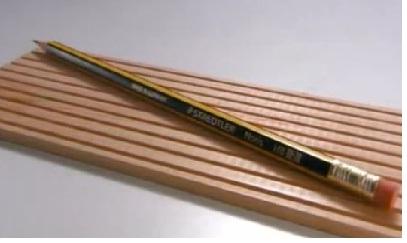 fabrication crayons à papier