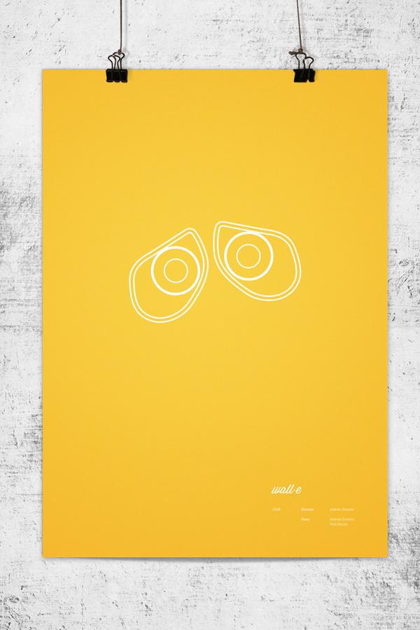 Pixar  affiches minimalistes