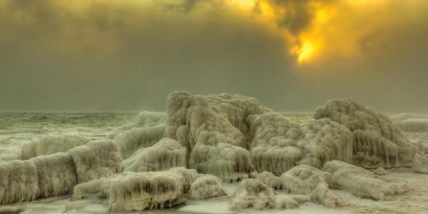 mer Noire gelée