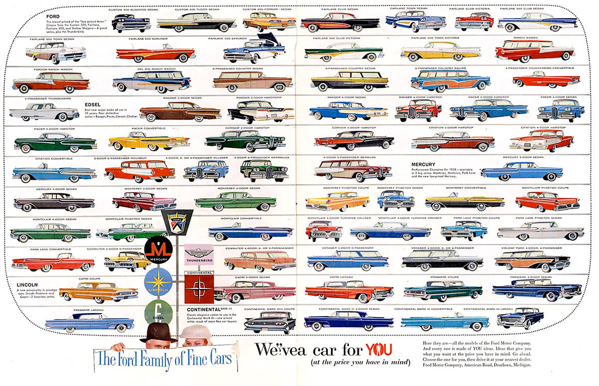 Brochure voitures Ford