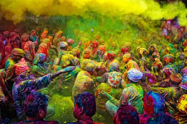 fête des couleurs en Inde
