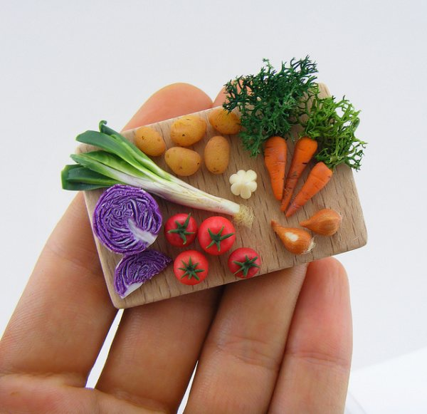 Oeuvres alimentaires miniatures