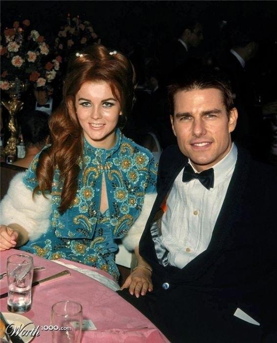 Ann Margret and Tom Cruise