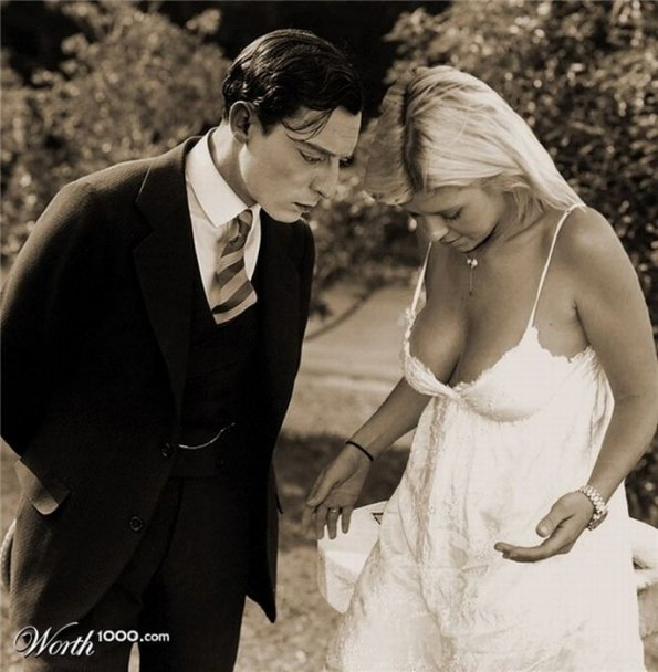 Buster Keaton and Tara Reid