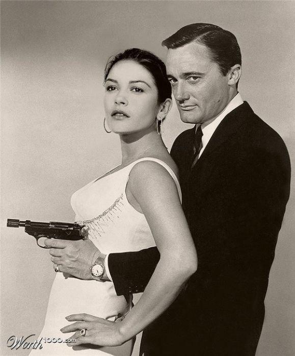 Catherine Zeta Jones and Robert Vaughn