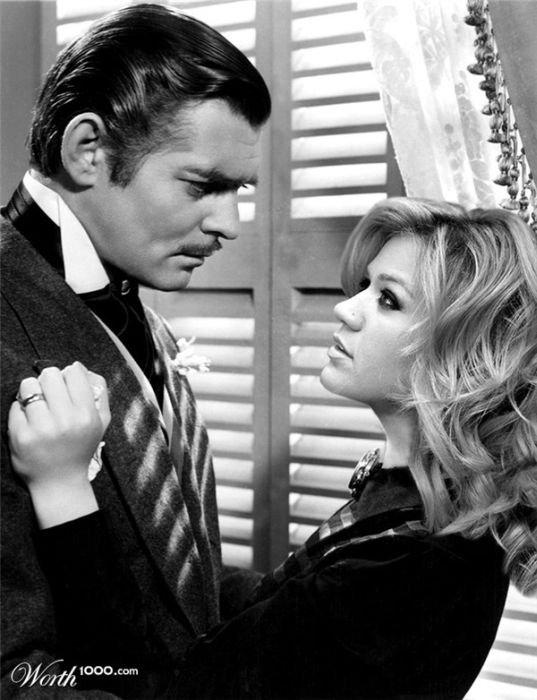 Clark Gable and Kelly Clarkson