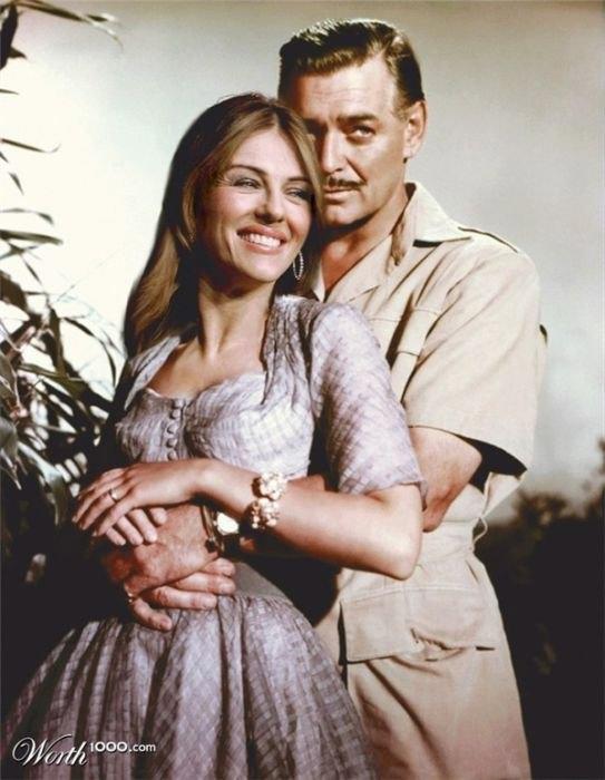 Elizabeth Hurley and Clarck Gable