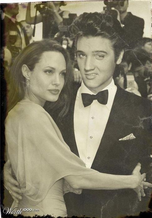 Elvis and Angelina Jolie