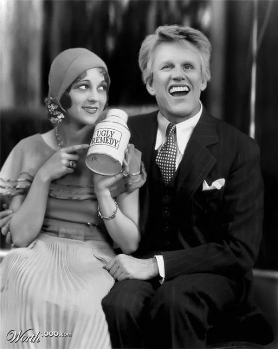 Gary Busey and Sally Eilers