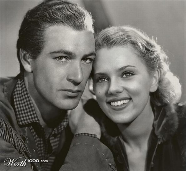 Gary Cooper and Scarlet Johansson