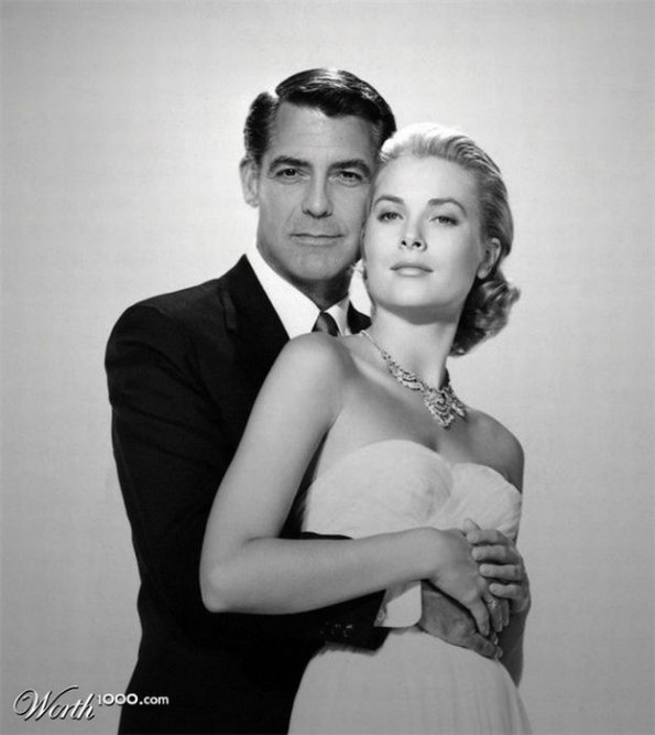 George Clooney and Grace Kelly