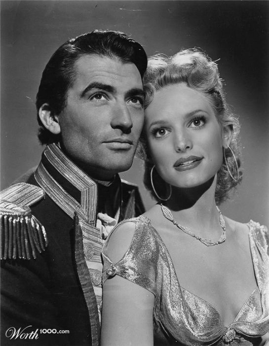 Gregory Peck and Jessica Simpson