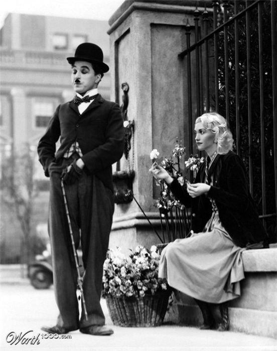 Gwen Stefani and Charlie Chaplin