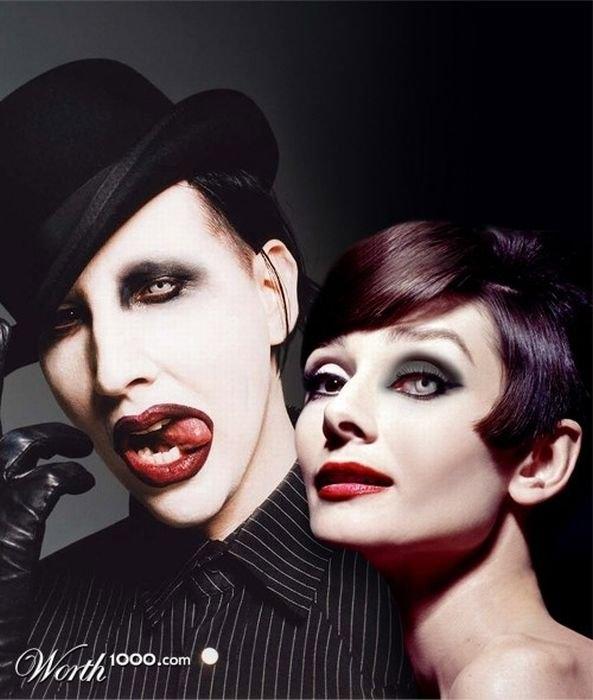Marilyn Manson and Audrey Hepburn