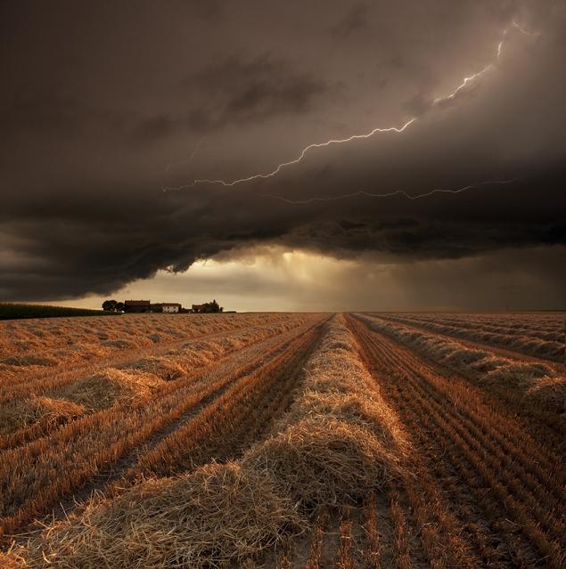 orage au moment de la récolte