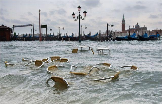 Venise sous l'eau