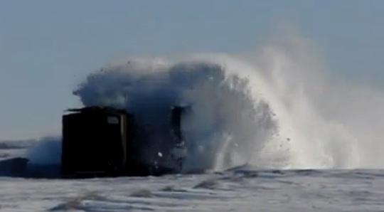 train chasse neige