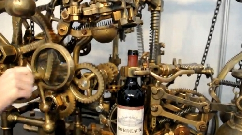 verser,verre de vin,machine,automatique,robot