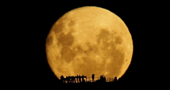 pleine lune en Nouvelle-Zelande