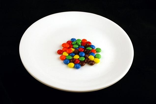 M & M Bonbons 40 grammes = 200 calories