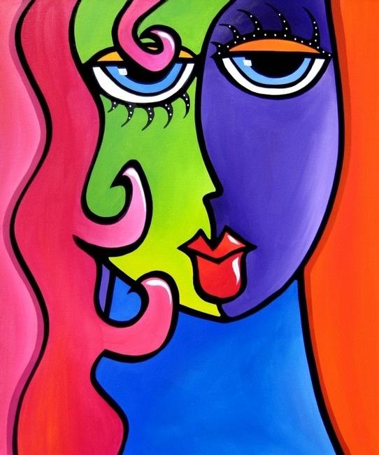 Pinturas de arte pop y collages de Tom Fedro