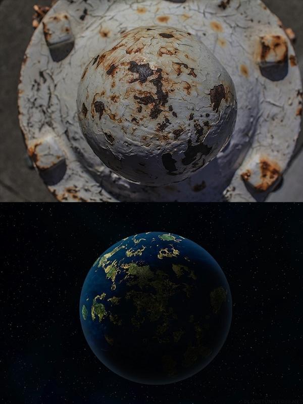 Des planètes dans des bornes d'incendie