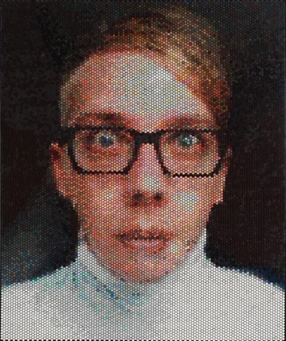 Des portraits avec du papier bulle