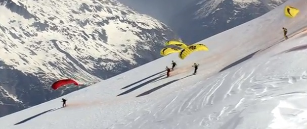 Speed Riding sur la Mont Blanc