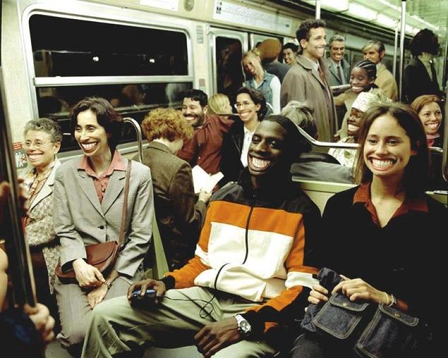 sourire metro