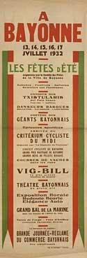 affiche-des-fetes-de-Bayonne-en-1932