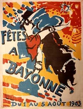 affiche-des-fetes-de-Bayonne-en-1953