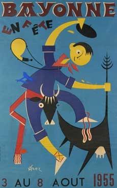 affiche-des-fetes-de-Bayonne-en-1955