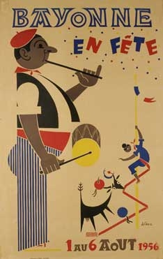 affiche-des-fetes-de-Bayonne-en-1956