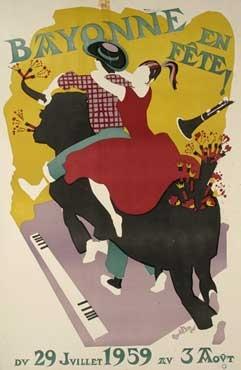 affiche-des-fetes-de-Bayonne-en-1959
