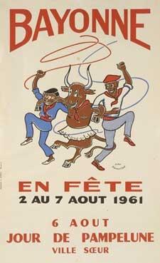 affiche-des-fetes-de-Bayonne-en-1961