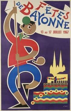 affiche-des-fetes-de-Bayonne-en-1967