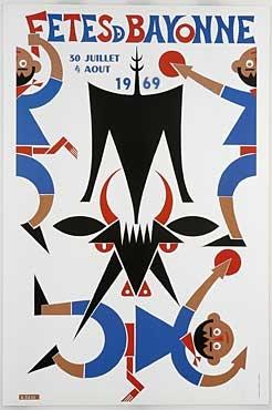 affiche-des-fetes-de-Bayonne-en-1969