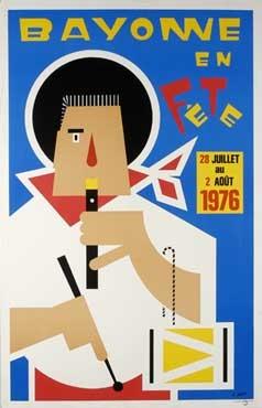affiche-des-fetes-de-Bayonne-en-1976