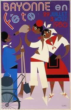 affiche-des-fetes-de-Bayonne-en-1980