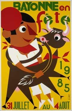 affiche-des-fetes-de-Bayonne-en-1985