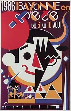 affiche-des-fetes-de-Bayonne-en-1986