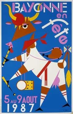 affiche-des-fetes-de-Bayonne-en-1987