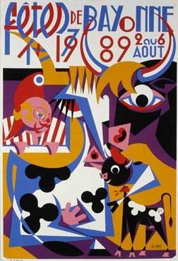 affiche-des-fetes-de-Bayonne-en-1989